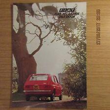 FIAT 127 gamma 2 due & 3 tre porte DE LUXE UK Opuscolo Vendite sul mercato auto 1974