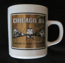 CHICAGO 84 NATIONAL O SCALE CONVENTION Ceramic Whistlestop Mug  RARE EUC
