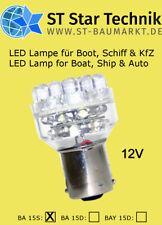 32 LED Lampe BA-15s 12V Leuchte Birne f. Schiff Boot Positionsbeleuchtung BA15s