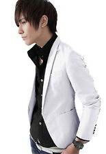 Men's Casual Slim Fit One Button Suit Blazer Coat Jacket Tops M L XL XXL XXXL