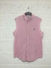 Original Penguin Munsingwear Sleeveless Shirt - Slim Fit Cotton Pink - Size XL