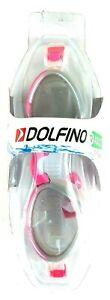 Dolfino Anti-Fog Hot Pink Swim Goggle UV Protection 12+ Adult A2