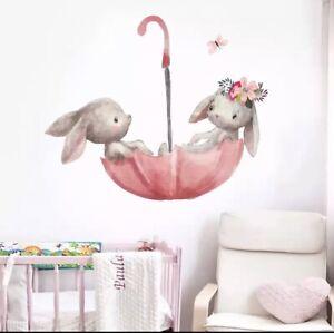 🌸Wandtattoo|Kinder-Babyzimmer|Hase|Schaukel|Wandsticker|Mädchen|Junge|Neu🌸
