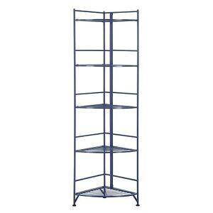 Xtra Storage 5 Tier Folding Metal Corner Shelf