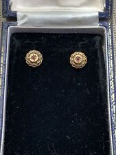 Antique Victorian 15ct Gold Ruby Earrings