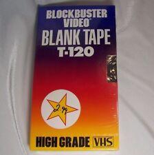 Blockbuster Video BLANK Tape T-120 Vintage Sealed High Grade VHS 1990