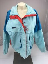 Columbia Sportswear POWDER KEG light blue Snow Ski Winter full zip Jacket L Vtg