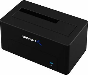 Sabrent USB 3.1 to SATA External Hard Drive Docking Station for 2.5 or 3.5in HDD