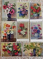 "Vintage Postcards Lot 8 Stehli Collection Switzerland 5.5"" & 6"" Unused Estate"