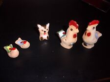 Hand painted Clay Animal Figurines