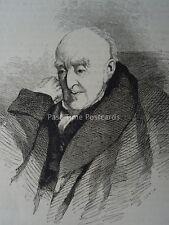 London PORTRAIT OF SAMUEL ROGERS Original Victorian Print 1878