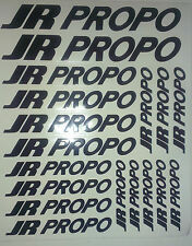 18 x JR PROPO Stickers Decals For R/C Plane,Heli,Car,Boat. Fuel/Water proof