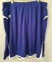 Russell Athletic Mens Blue White Elastic Waist Athletic Shorts Size 3XL