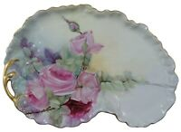 William Guerin & Co Limoges Roses Dresser Vanity Tray France WG & Co