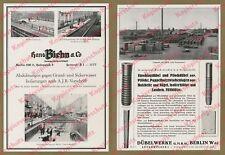 Orig Publicité Hans Biehn kg construction métro Tauentzienstraße ouvriers Berlin 1935