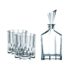 Riedel 90024 Nachtmann Aspen Whiskey Tumbler Set with 2 Glasses and Decanter