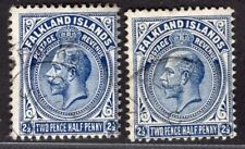 FALKLAND ISLANDS 1912/4 STAMP Sc. # 33 AND 33c USED