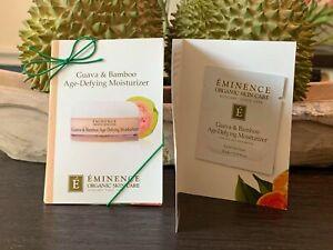 6 Eminence Organic Guava & Bamboo Age Defying Moisturizer Samples 3ml/.1oz ea+🎁