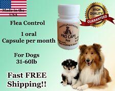 Pro Caps Pro Flea Control Killer for Dogs 31-60 lb 6 month prevention kills eggs