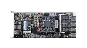 REBTECH 8 GPU MOTHERBOARD WITH 8GB RAM