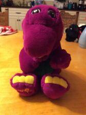 """VINTAGE 1992 BARNEY Purple DINOSAUR Stuffed ANIMAL Plush 13"""" T1"""