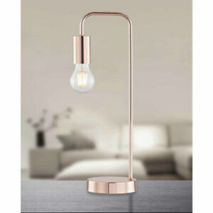 Chester Rose Gold Industrial Table Lamp