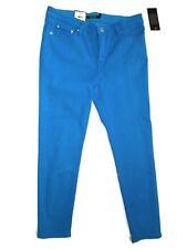 Lauren Ralph Lauren Turquoise Blue Cropped Skinny Jeans size 10