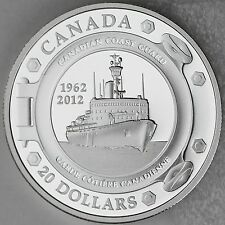 2012 $20 Canadian Coast Guard 50th Anniversary 1 oz. .9999 Pure Silver Proof Set