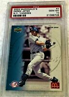 DEREK JETER 2003 UPPER DECK MCDONALD'S #7 PSA 10 GEM MINT POP 8 RARE YANKEES