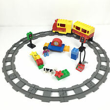 Lot Lego Duplo Train Electrique + Rail Circuit + 1 Figurine 3771