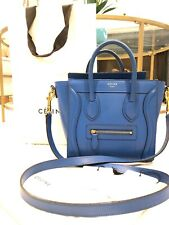 Authentic CELINE Nano Luggage In Electric Blue