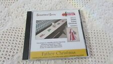 Brother Amazing Designs JUMBO FATHER CHRISTMAS XLG Embroidery Card EXC Pre-Own