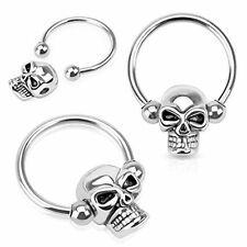 Skull jewelry Captive Bead Ring ball closure ring Surgical Steel 14g 12mm