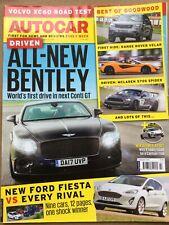 Autocar Magazine - 5 July 2017 - Bentley Cont GT Ford Fiesta v Rivals Volvo XC60