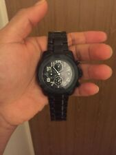 Men's black Guess watch