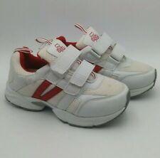 Dr. Zen Womens Diabetic Shoes Red White Sneakers 2 Straps women size 10 men 9 XW