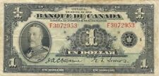 BANQUE DU CANADA $1 1935 FRENCH ISSUE ~ BC-2 ~ KING GEORGE V - ATTRACTIVE NOTE