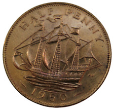 More details for 1950 king george vi halfpenny coin proof - great britain