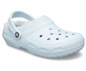 Crocs Classic Fuzzy Lined Clog Unisex Mineral/ Blue Brand New  With 3 Charms