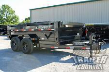 New 7 X 12 14k Gvwr Scissor Hoist Power Hydraulic Dump Trailer Equipment Hauler