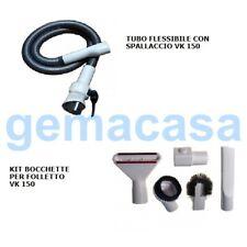 Tubo flessibile bianco cinta spallaccio+accessori Folletto VK 150/200/220S