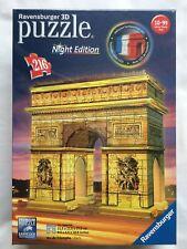 Nueva Marca Ravensburger noche edición 216 Pieza 3D Rompecabezas-Arco de Triunfo PARIS