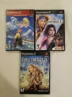 Final Fantasy X( GHE)  X-2 XII PS2 Video Games Complete Lot Of 3 ALL CIB.