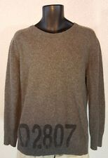 D & G DOLCE & GABBANA Knitwear L/S  Wool Crewneck ID Sweater MEN'S MEDIUM Gray
