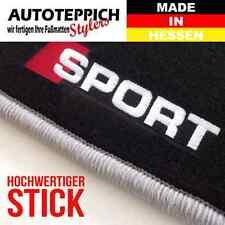 FUßMATTEN STICK /SPORT seitlich PASSEND FÜR VW Polo 86 86C 2F Bj.75-94