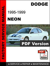 DODGE NEON 1995 1996 1997 1998 1999 SERVICE REPAIR WORKSHOP MANUAL