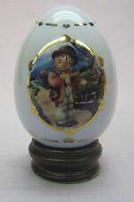 """M.J. Hummel Porcelain Egg from Danbury Mint 1996 """"Little Fiddler"""""""