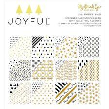 My Minds Eye Joyful Gold Double-Sided Paper Pad - 077886