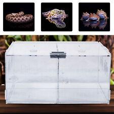 New Acrylic Reptile Cage Breeding Box Tarantula Insect Lizard Clear Pet Tank Usa