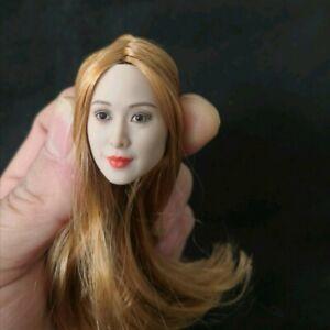 GLF 1/6 Beauty Actor 石原さとみ Girl Head Sculpt W/Long Hair Fit 12'' PH Body